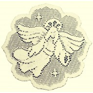 Doilies Nativity 8 Inch Round Ecru Set Of (4) Heritage Lace
