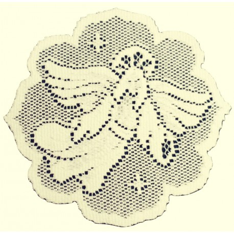Doilies Nativity 8 Inch Round Ecru Set Of (4) Heritage Lace