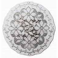 Doily Poinsettia 14 Round Silver Lame Set Of (3) Oxford House