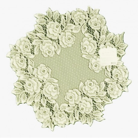Tea Rose 15 Inch Round Ecru Doily Set Of (2) Heritage Lace