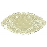 Doily Floret Ecru 14 x 28 Set Of (2) Heritage Lace