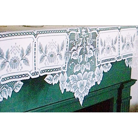 Mantel Scarf Heirloom 20x91 White Heritage Lace