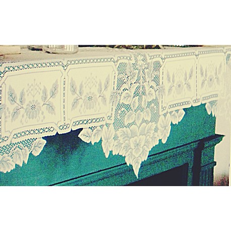 Mantel Scarf Heirloom 20x91 Ecru Heritage Lace