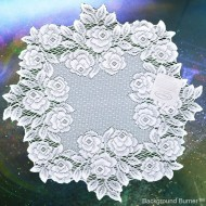 Tea Rose 15 Inch Round White Doily Set Of (2) Heritage Lace