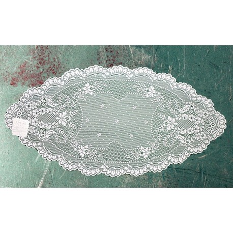 Doily Floret White 14 x 28 Set Of (2) Heritage Lace