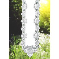 Table Runner Heirloom 14x54 White Heritage Lace