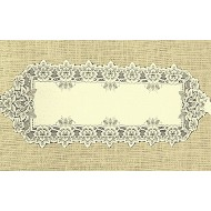 Table Runner Heirloom 14x54 Ecru Heritage Lace