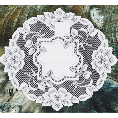 Doily Heirloom White 16 Round Set Of (2) Heritage Lace