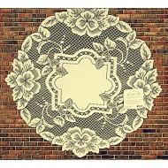 Doily Heirloom Ecru 16 Round Set Of (2) Heritage Lace
