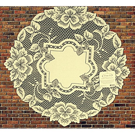 Doily Heirloom Ecru 16 Round Set Of (2) Heritage Lace