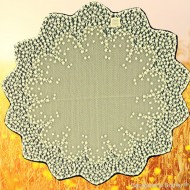 Table Topper Blossom 42 Round Ecru Heritage Lace