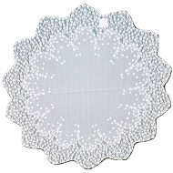 Table Topper Blossom 42 Round White Heritage Lace