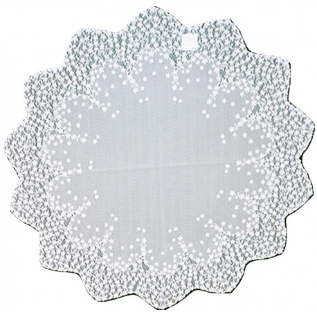 Blossom 42 Inch Round White Table Topper Heritage Lace