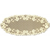 Table Runner Cottage Rose 14x34 Ecru Heritage Lace