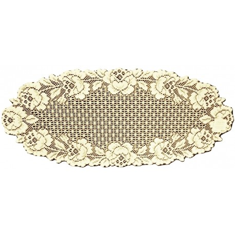 Cottage Rose 14x34 Ecru Table Runner Heitage Lace