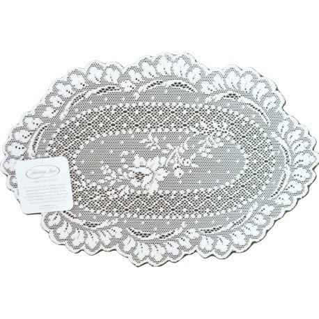 Doily Floret White 8 x 12 Set Of (2) Heritage Lace