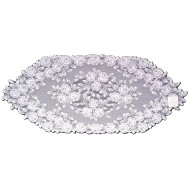 Table Runner Tea Rose White 14x36 Heritage Lace