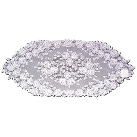 Table Runner Tea Rose Table Linens White 14x36 Heritage Lace