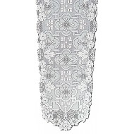 Table Runner Filigree 14x90 White Heritage Lace