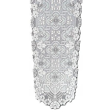 Filigree 14x90 White Table Runner Heritage Lace