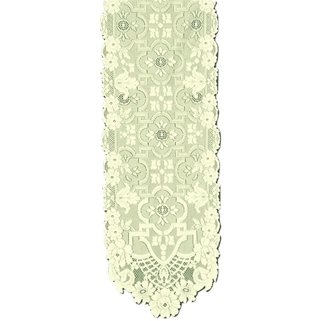 Filigree 14x54 Light Ivory Table Runner Heritage Lace