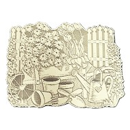 Placemat Garden Scene Ivory 13x19 Set Of (4) Heritage Lace