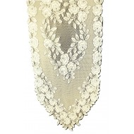 Table Runner Tea Rose 14x48 Ecru Heritage Lace
