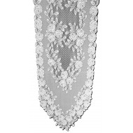 Table Runner Tea Rose 14x48 White Heritage Lace
