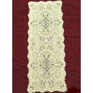 Table Runner Savoy 14x54 Light Ivory Heritage Lace