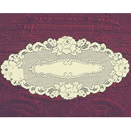 Doily Vintage Rose Ecru 12 x 24 Set Of (2) Heritage Lace