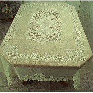 Tablecloths Battenburg Paisley 60x90 Rectangle Ivory Oxford House