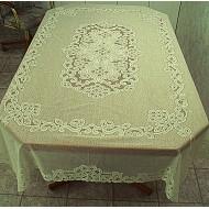 Tablecloths Battenburg Paisley 60x90 Rectangle Ivory Oxford House