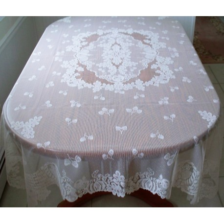 Tablecloths Cornucopia 60x84 Rectangle White Oxford House
