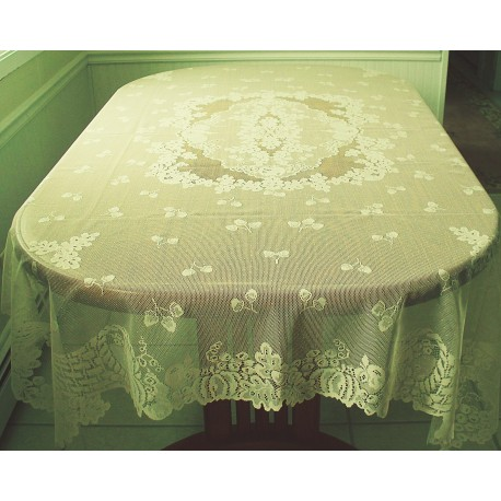 Tablecloths Cornucopia 60x84 Rectangle Ivory Oxford House