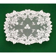 Doilies Christmas Horns White 20 x 28 Set Of (2) Oxford House
