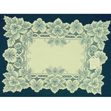 Placemats Heirloom 14x20 Ecru Set Of (4) Heritage Lace