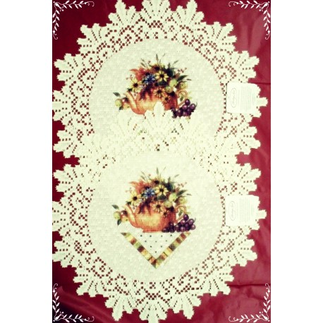 Doilies Abundant Blessings 15 R Set Of (2) Ecru Heritage Lace