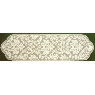 Table Runner Heritage Damask 14x64 Pearl Heritage Lace