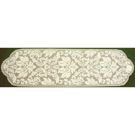 Heritage Damask 14x64 Pearl Heritage Lace