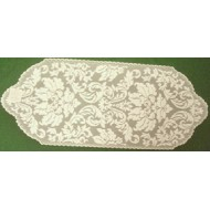 Table Runner Heritage Damask 14x34 Pearl Heritage Lace