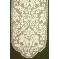 Table Runner Heritage Damask 14x49 Pearl Heritage Lace