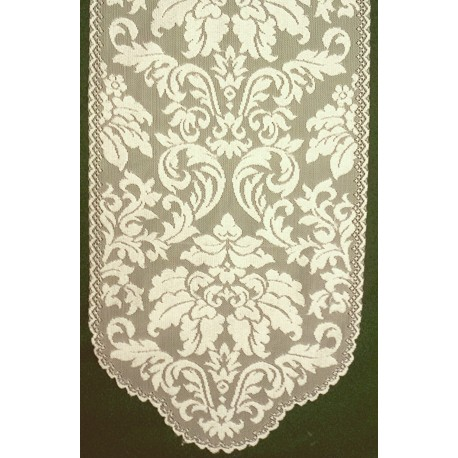 Heritage Damask 14x49 Pearl Heritage Lace