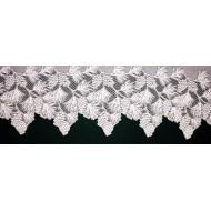 Mantel Scarf Woodland 20x88 White Heritage Lace