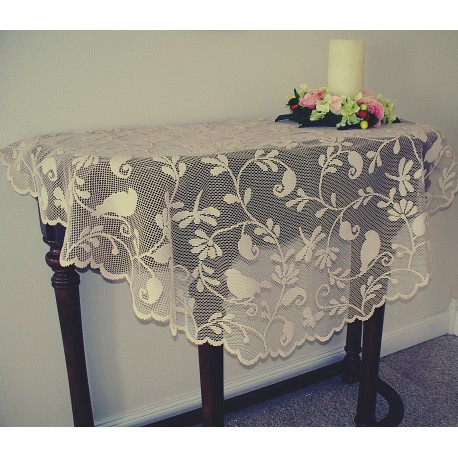 Table Topper Bristol Garden 45 Inch Round Cafe Color Heritage Lace