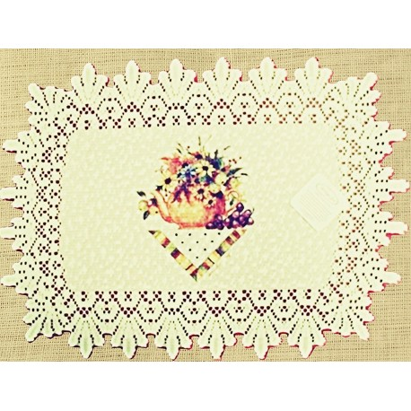Placemats Abundant Blessings 14x20 Ecru Set Of (4) Heritage Lace