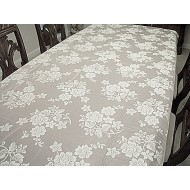 Tablecloths Rose Bouquet 60x104 White Oxford House