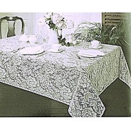 Tablecloth Julia 52x70 Rectangle White Oxford House