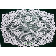 Placemats Dutch Garden 14x19 White Set Of (4) Oxford House