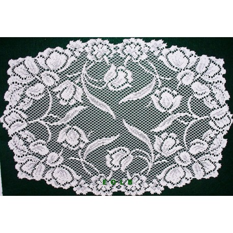Dutch Garden 14x19 White Placemats Set Of (4) Oxford House