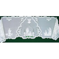 Mantel Scarf Silent Night 20x90 White Heritage Lace